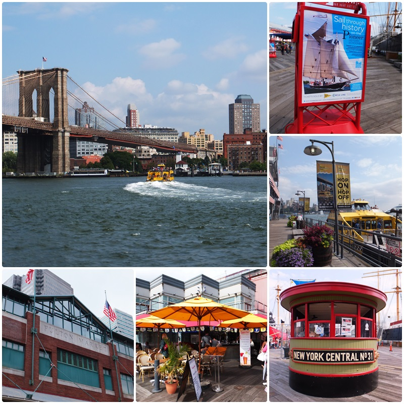 Brooklyn Bridge from the South Street Seaport