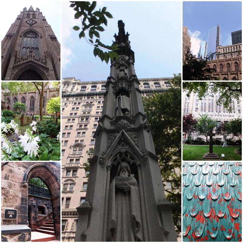 Trinity Church, another landmark in Lower Manhattan