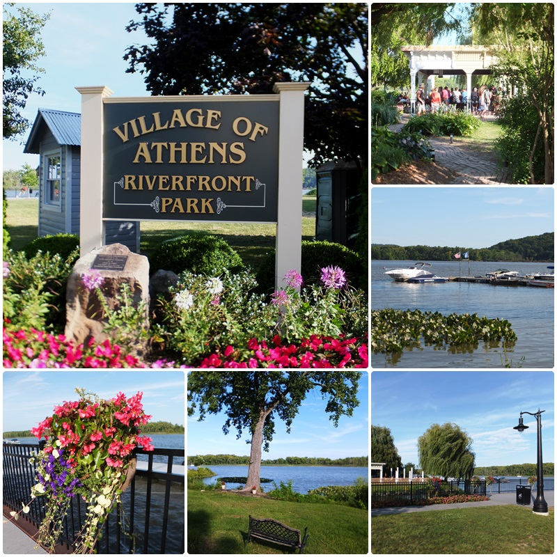 The beautiful Athens Riverfront Park overlooks the Hudson River