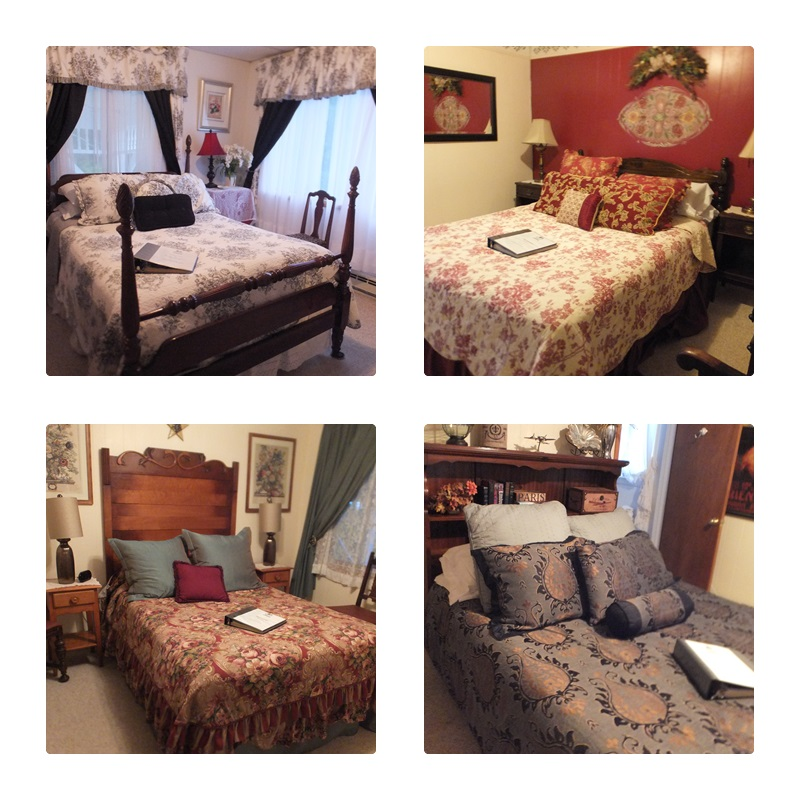 Some of the rooms at the Bavarian Manor Country Inn