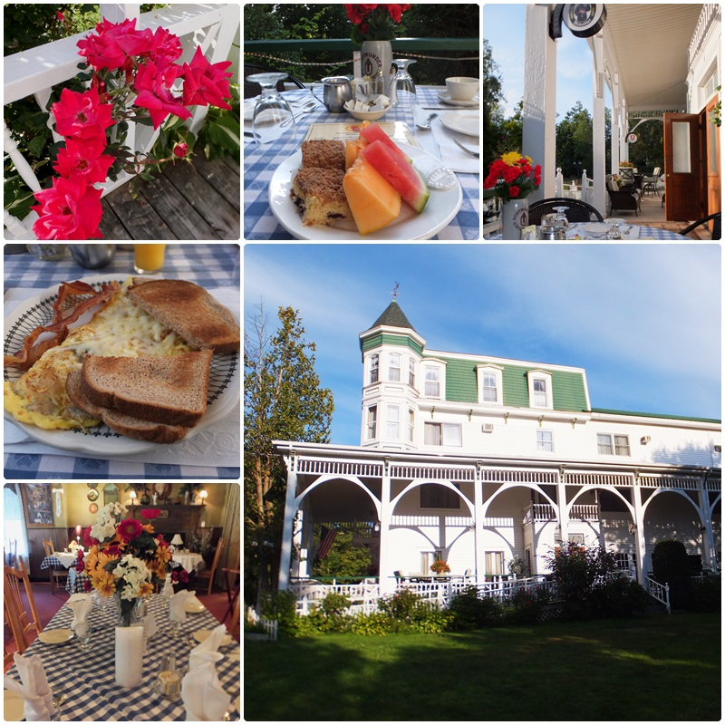 Breakfast on the sunny porch of the Bavarian Manor Country Inn