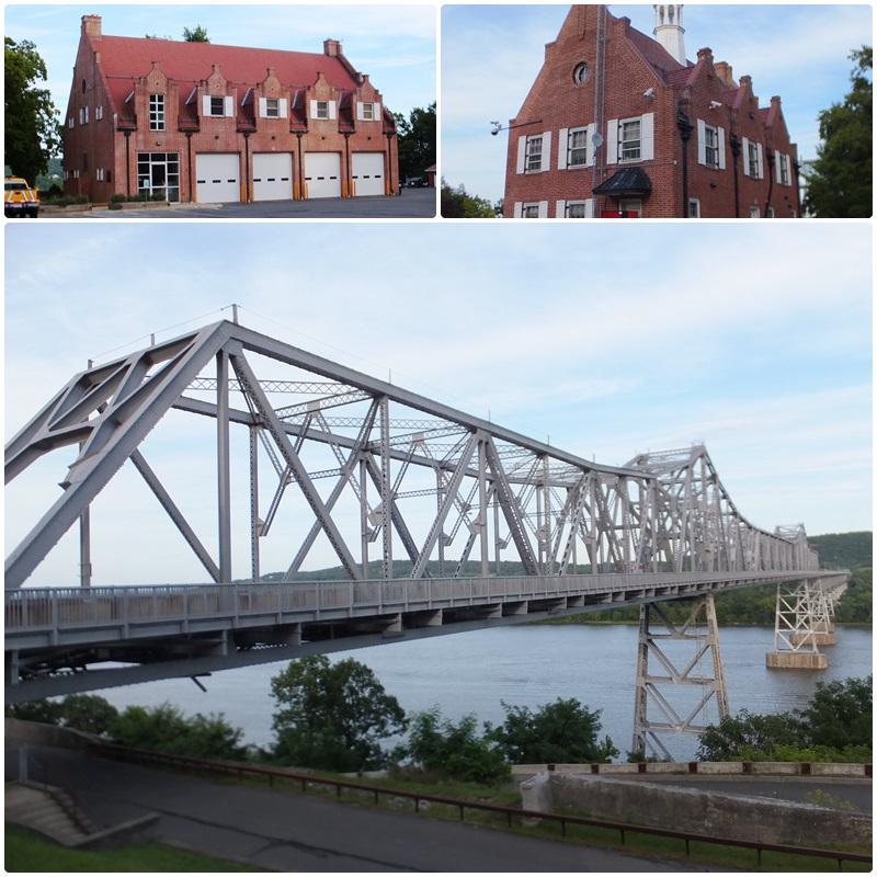 The impressive Rip van Winkle Bridge over the Hudson River