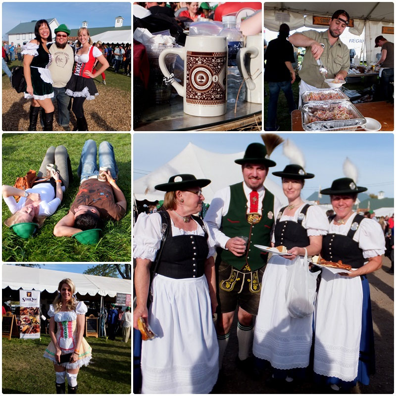The crowd dresses in dirndls and lederhosen at Beau's Octoberfest