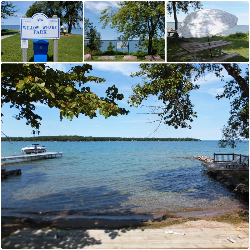 The shores of Lake Simcoe - a great place for a picnic