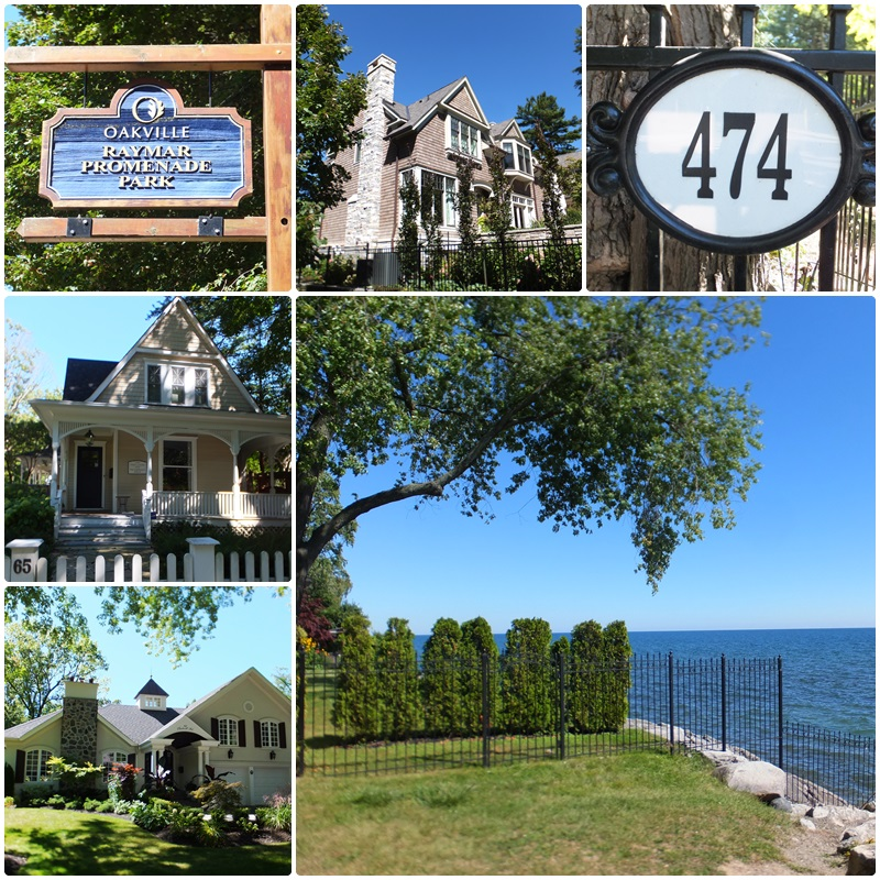 A series of parks stretches along the Lake Ontario waterfront in Oakville