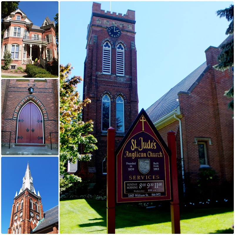 Historic churches in downtown Oakville