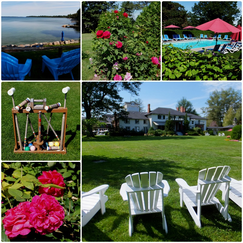 The beautiful grounds of the Briars Resort on Lake Simcoe