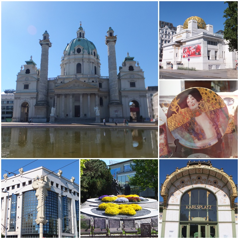 Vienna's Karlsplatz, the Karlskirche and the Art Nouveau Secession Building