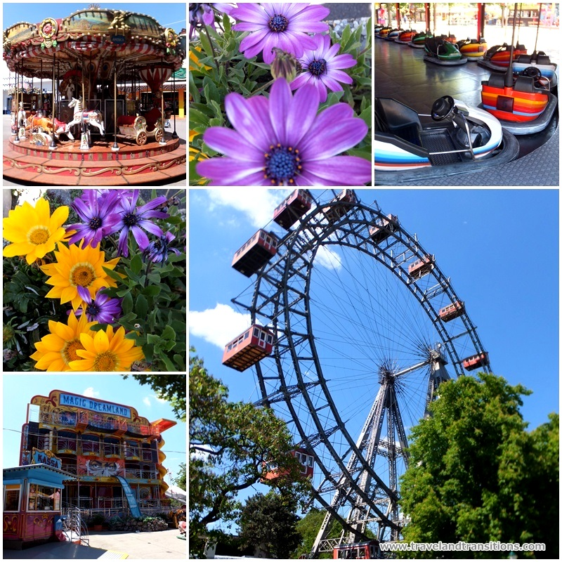 The Prater, Vienna's amusement park, with the famous Riesenrad