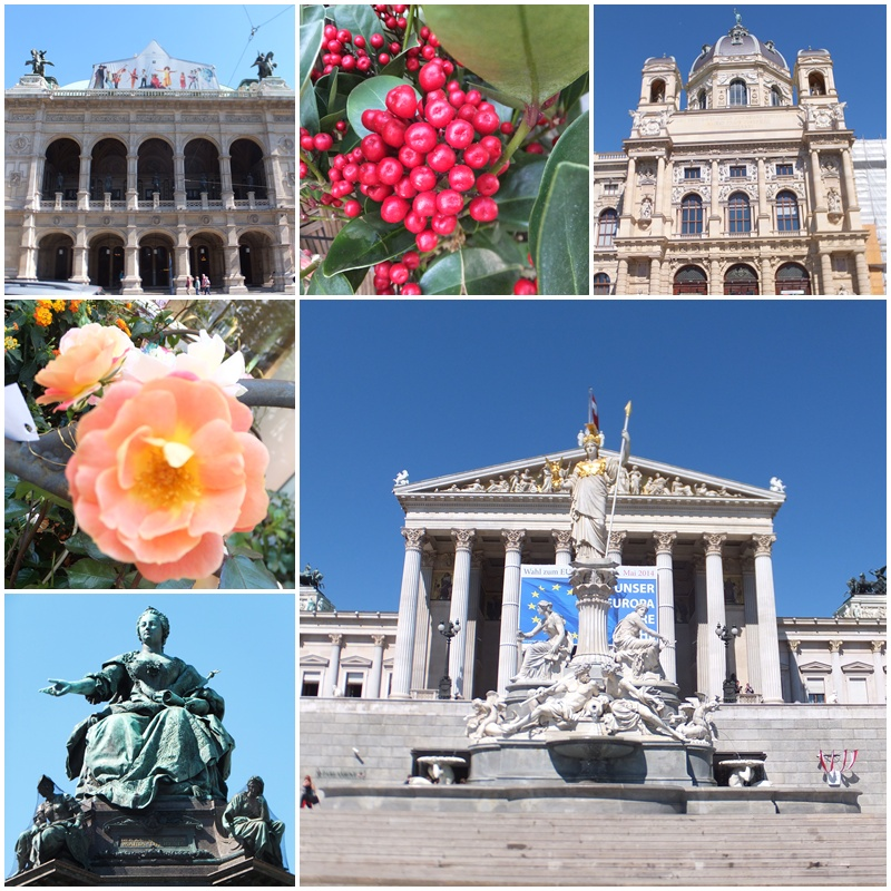 The Vienna State Landmarks on the Ringstrasse: the Vienna State Opera, the Museum of Art History & the Austrian Parliament