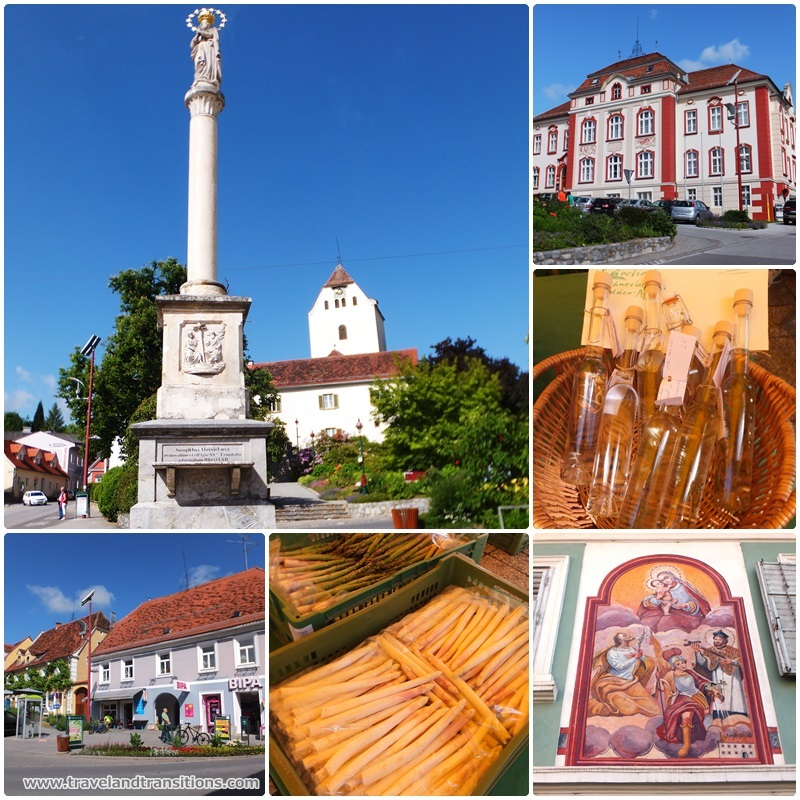 The farmers' market on the main square of Weiz