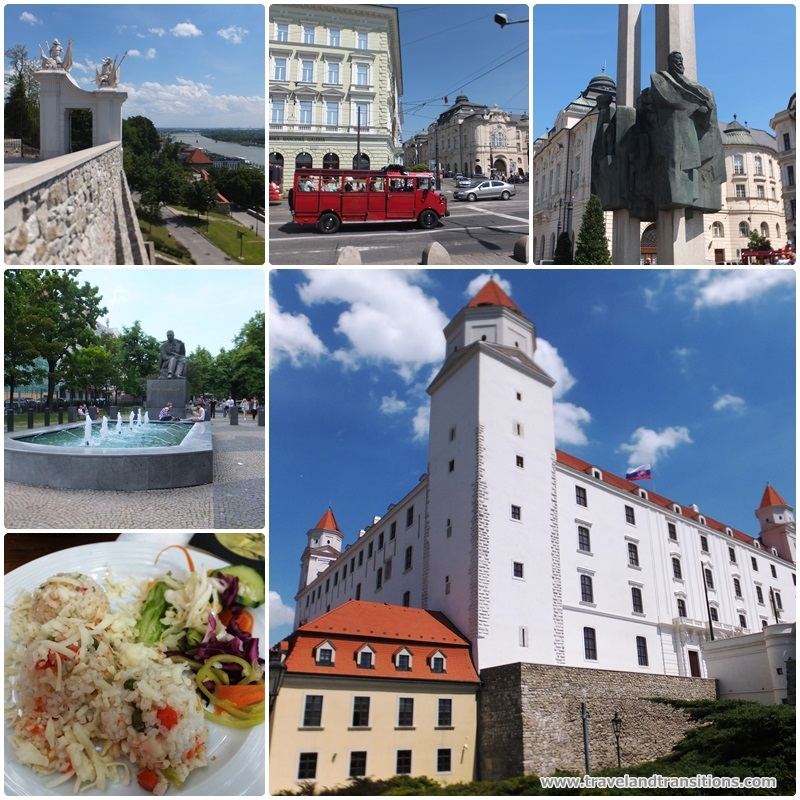 Our sightseeing tour took us to Bratislava castle