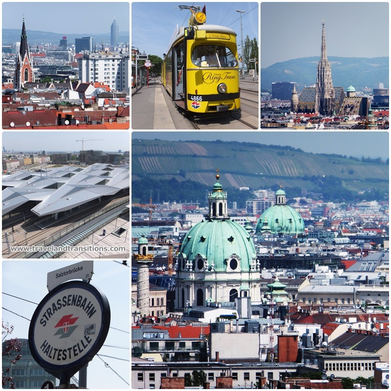 Great views from the Bahnorama Tower at Vienna's main railway station