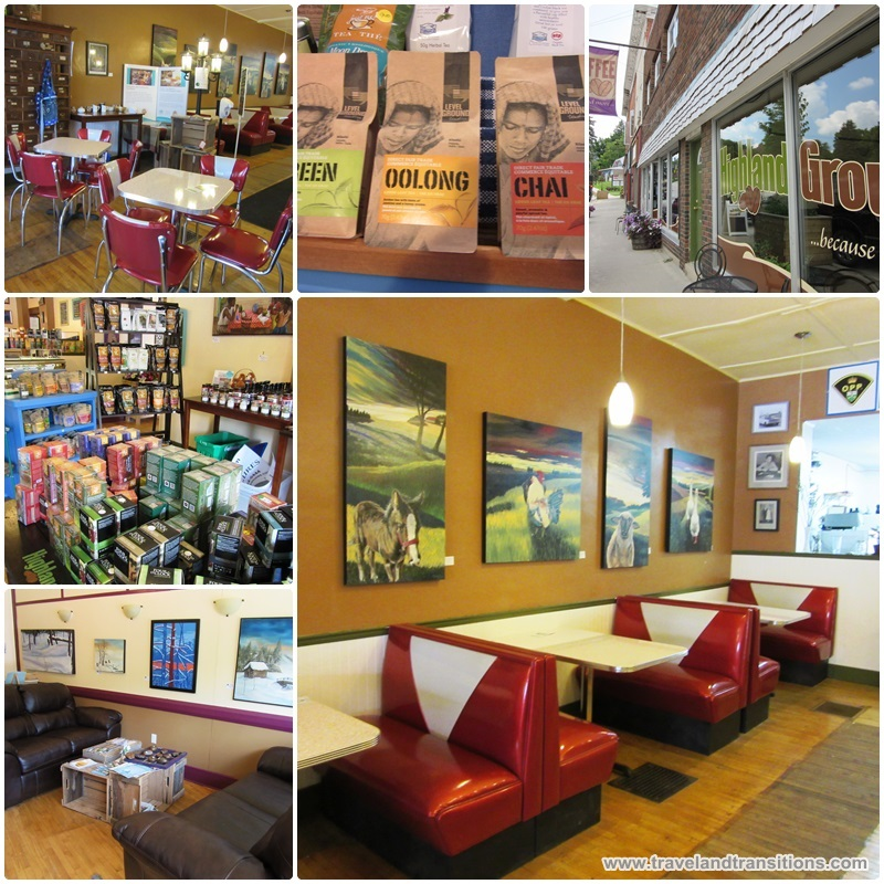 Highland Grounds, a fair trade coffee shop in Flesherton
