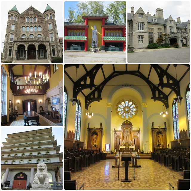 Fascinating architecture: Mount Carmel, Oak Hall & the Cham Shan Buddhist Temple