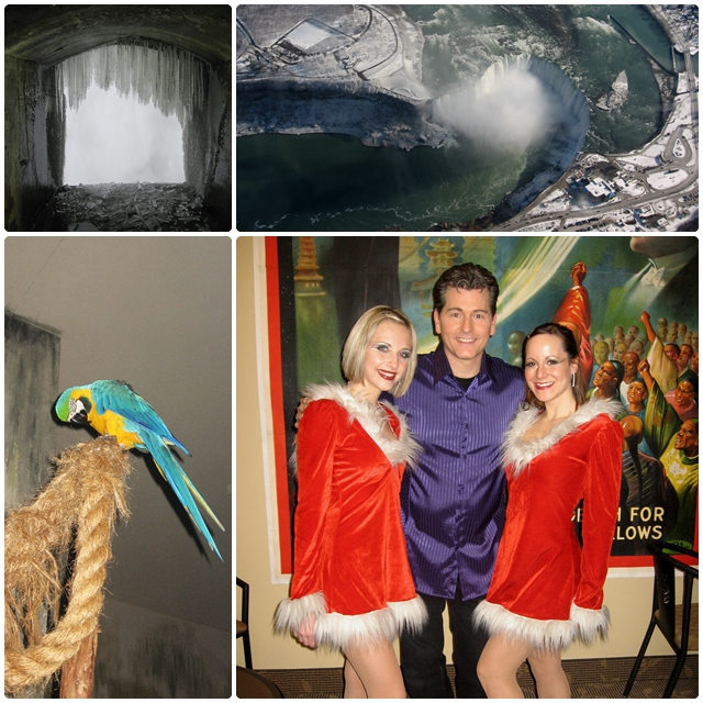 Niagara Falls' attractions: the Greg Frewin Theatre, Bird Kingdom, Journey Behind the Falls
