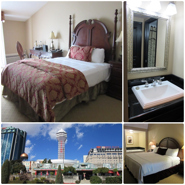 Some Niagara Falls hotels: the Old Stone Inn, the Sheraton on the Falls Hotel & the Crown Plaza Niagara Falls Fallsview Hotel
