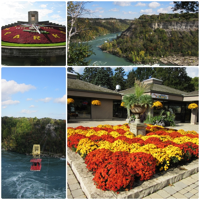Attractions along the NIagara Parkway: the Whirlpool Aero Car, Botanical Gardens & Floral Clock