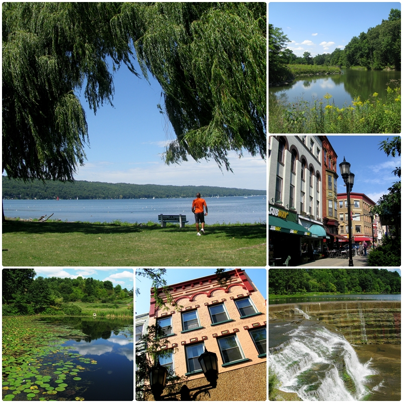 Ithaca, a beautiful town in the Finger Lakes