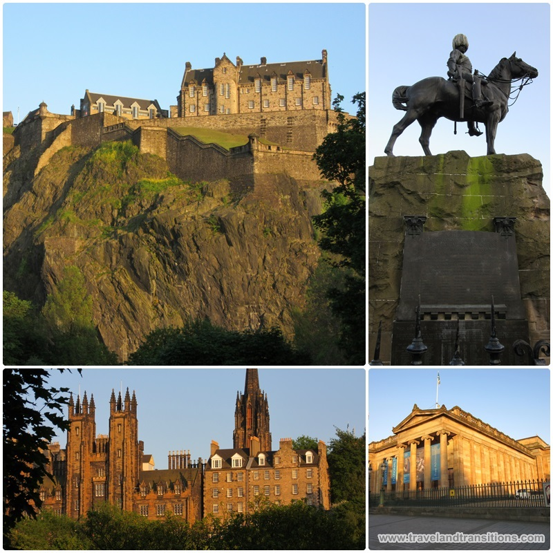 Edinburgh glows in the evening sun