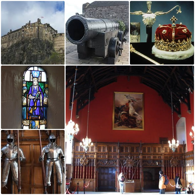 Edinburgh Castle and some its most famous sights