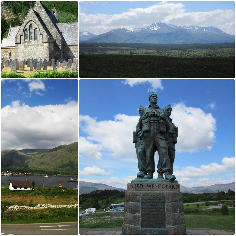Taking in the Commando Memorial with a view of Ben Nevis
