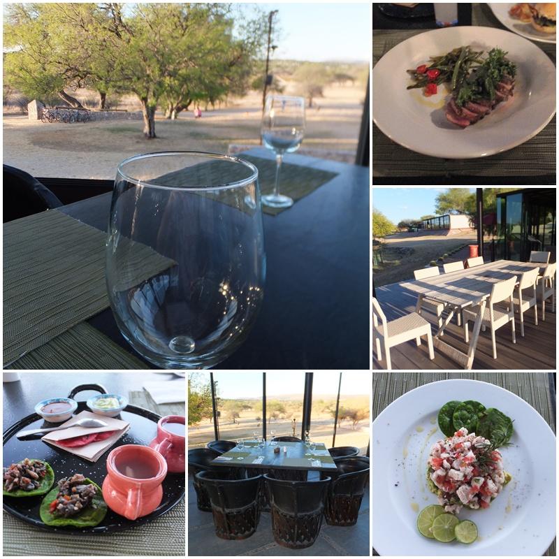 Gourmet cuisine at Los Senderos
