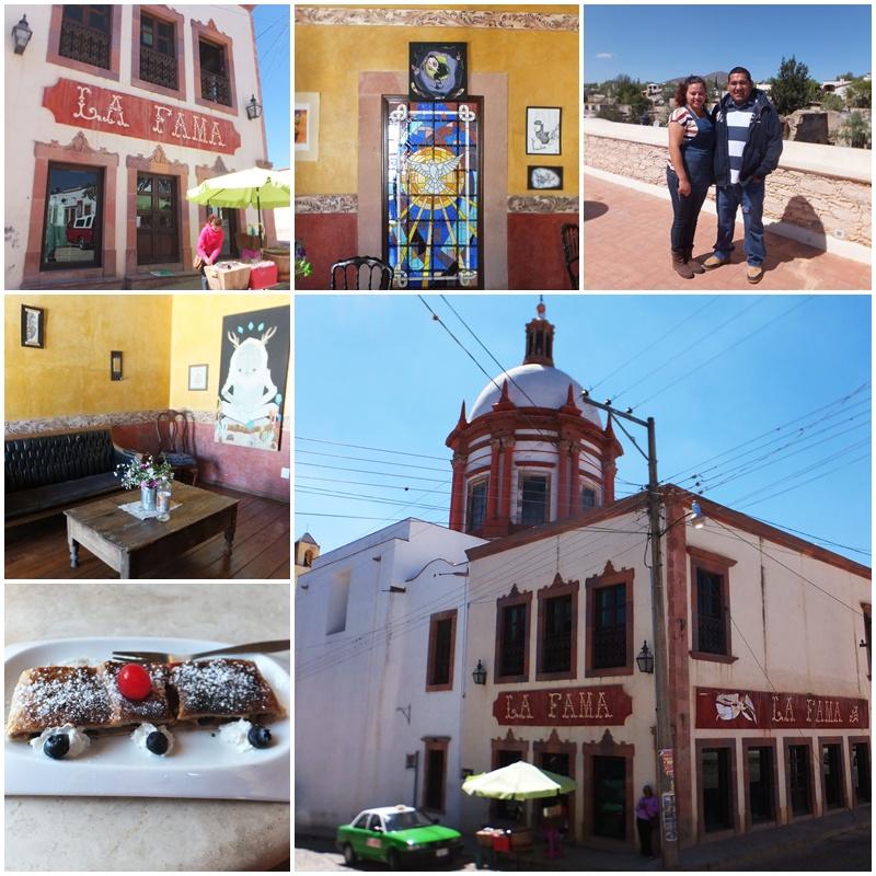 Cafe La Fama on the main square of Mineral de Pozos