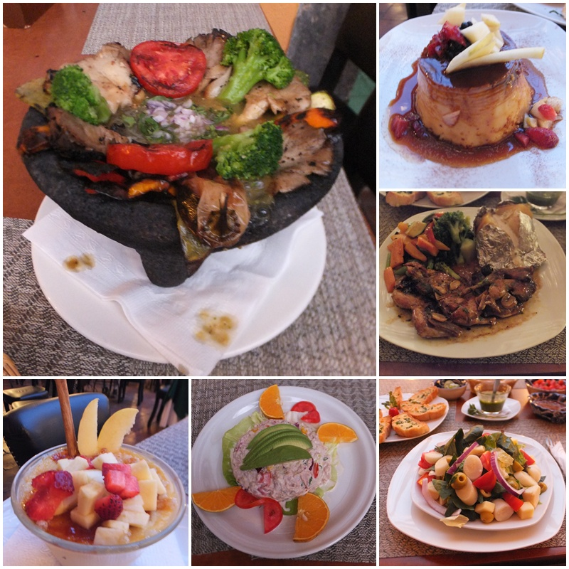 Colourful and tasty dishes at Los Milagros