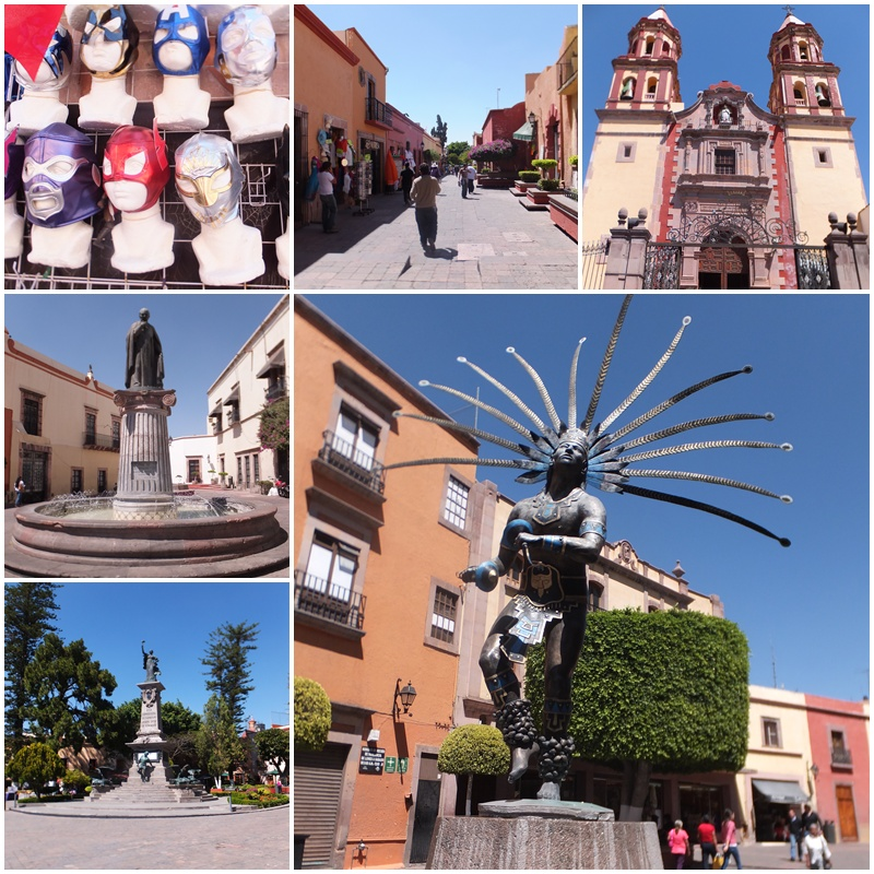 The pedestrian zone of Queretaro