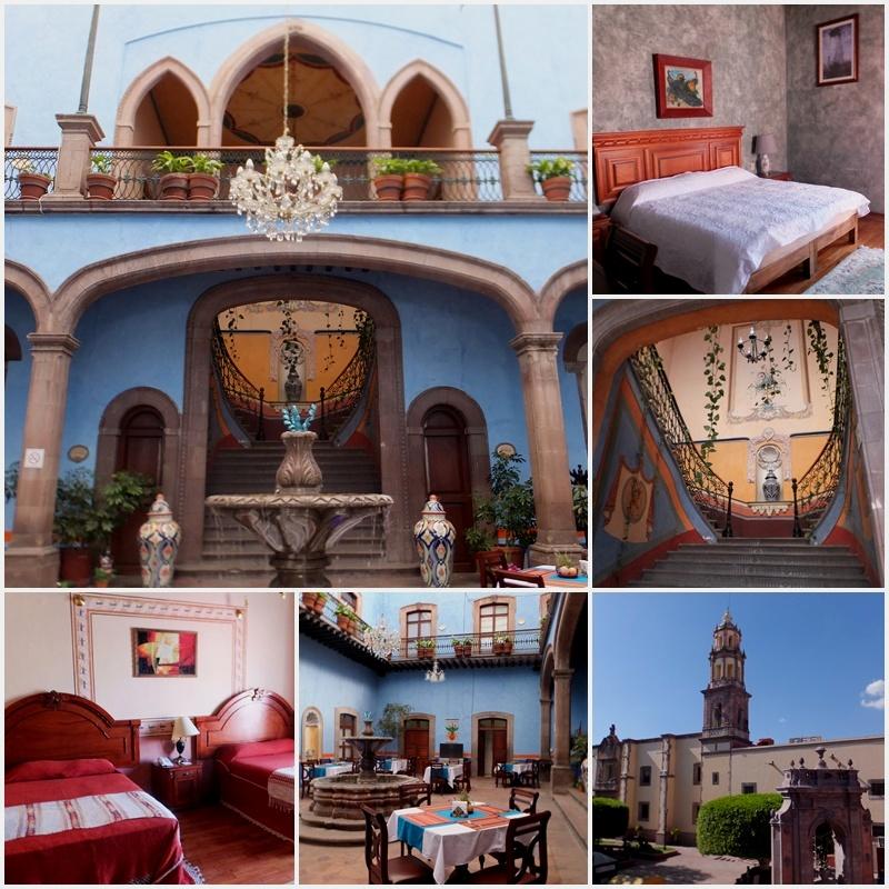 The Hotel Casa Azul, another unique structure in Queretaro