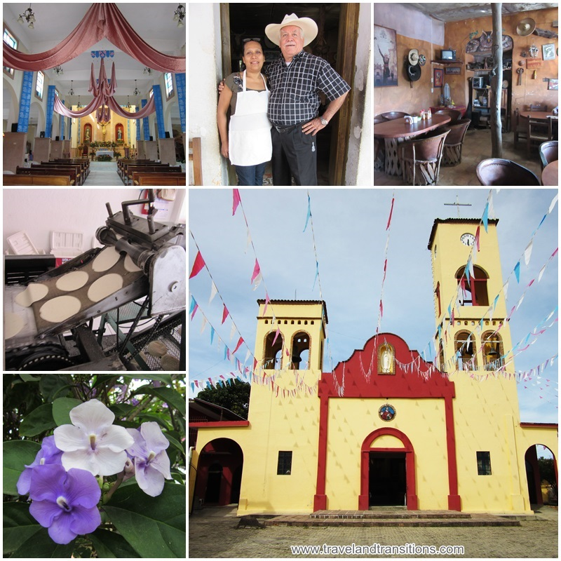 A visit to a church, tortilla factory and a restaurant in El Tuito