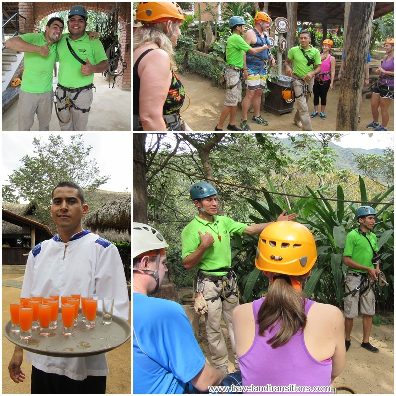 Our safety briefing got us ready for ziplining in Puerto Vallarta