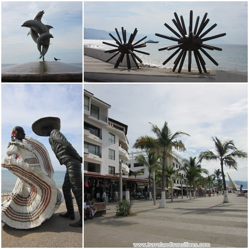 Puerto Vallarta has installed many interesting sculptures and status along the waterfront.