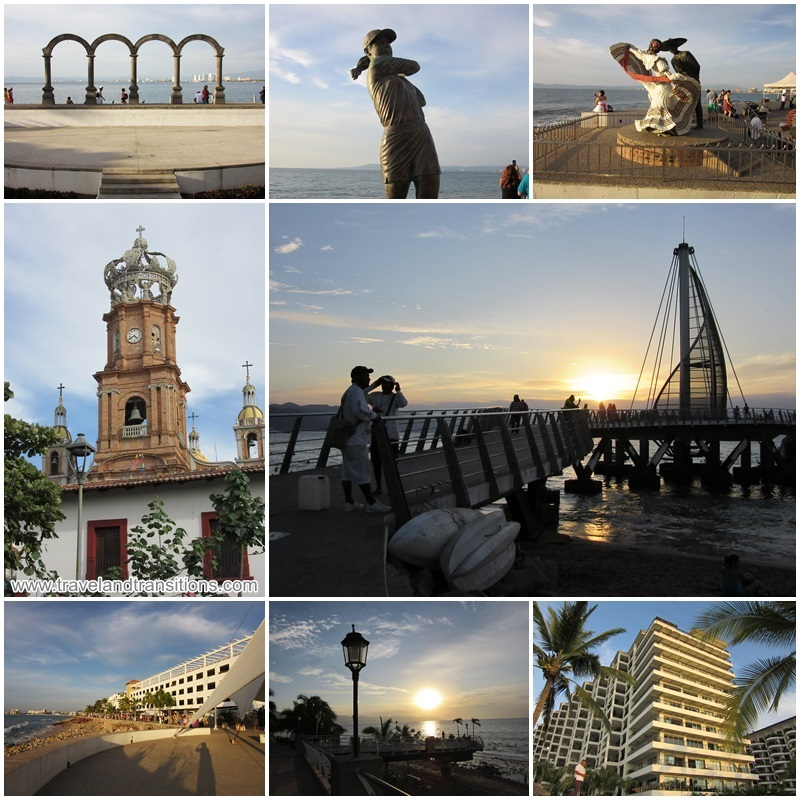The malecon is a great place to enjoy the magical sunsets of Puerto Vallarta.