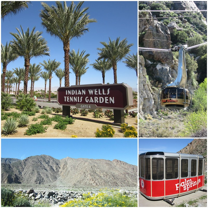 The Indian Wells Tennis Garden and the Palm Springs Aerial Tramway: two big attrations in the Coachella Valley