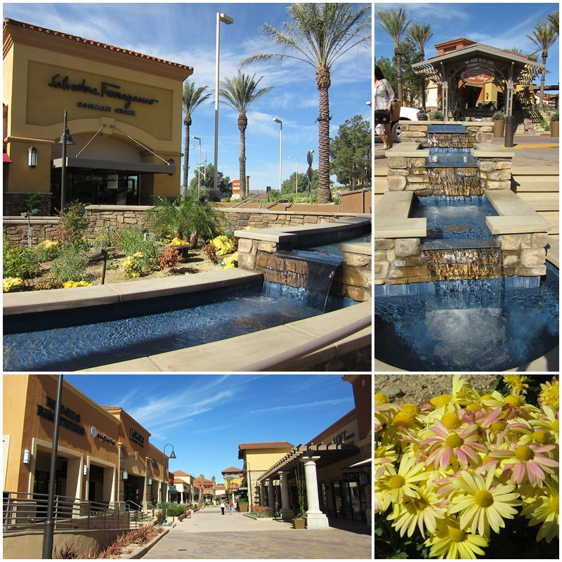 Attractive landscaping & design at the Desert Hills Premium Outlets