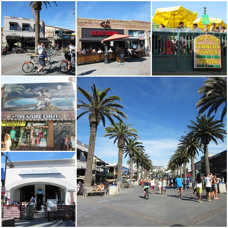 The downtown area of Hermosa Beach