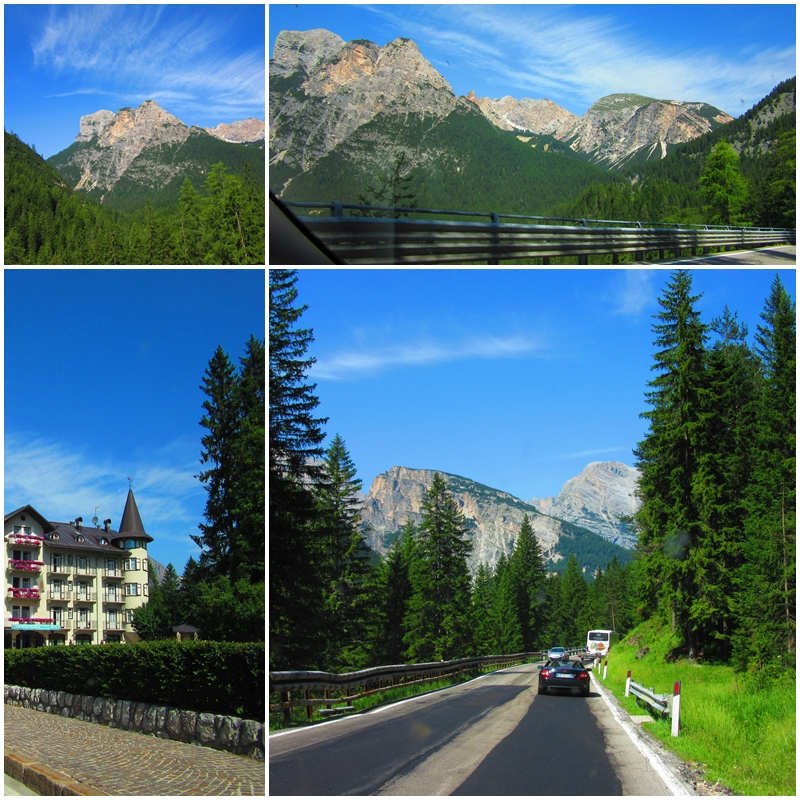 Driving towards Cortina d'Ampezzo