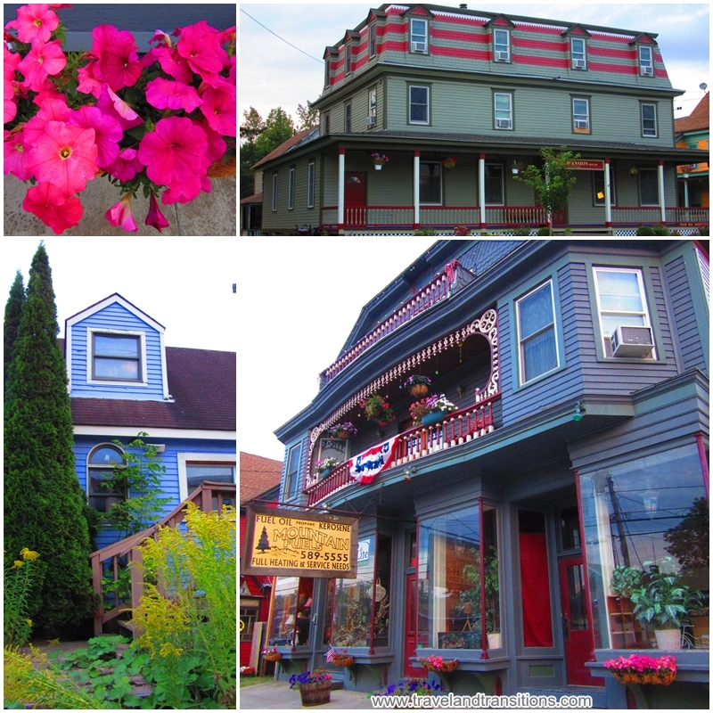 The Main Street of Tannersville is full of colour.