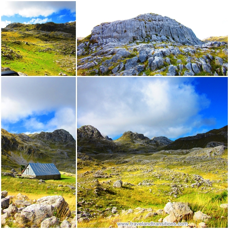 The Komovi Mountains, one of Montenegro's rugged mountain ranges