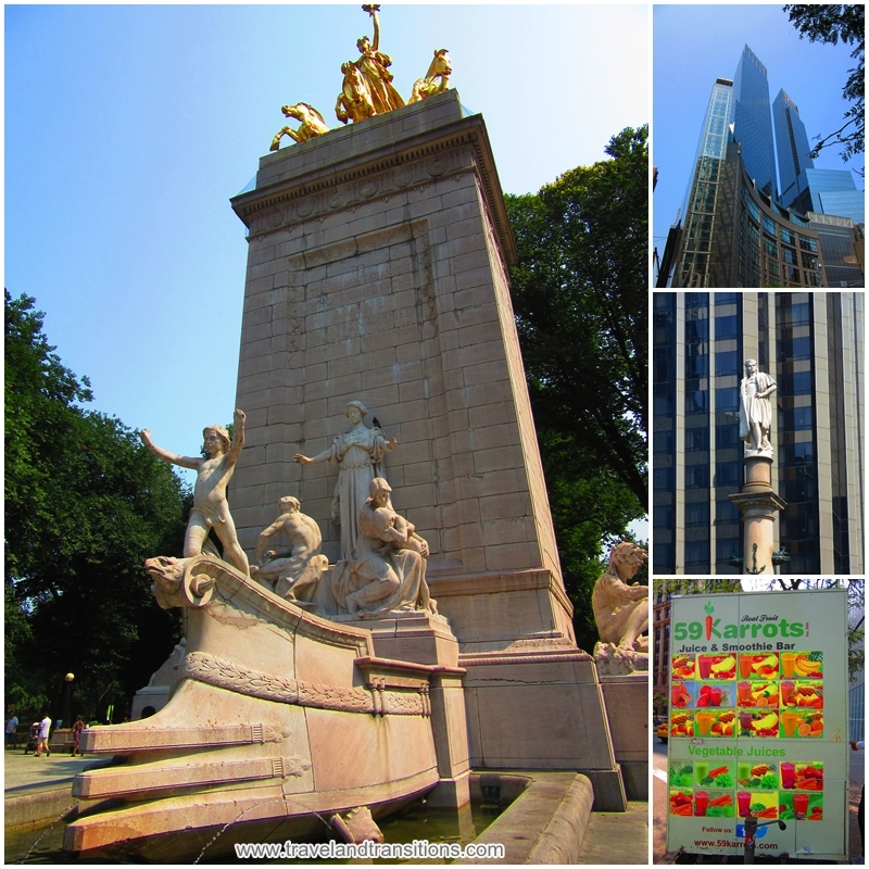Columbus Circle, at the southwestern end of Central Park