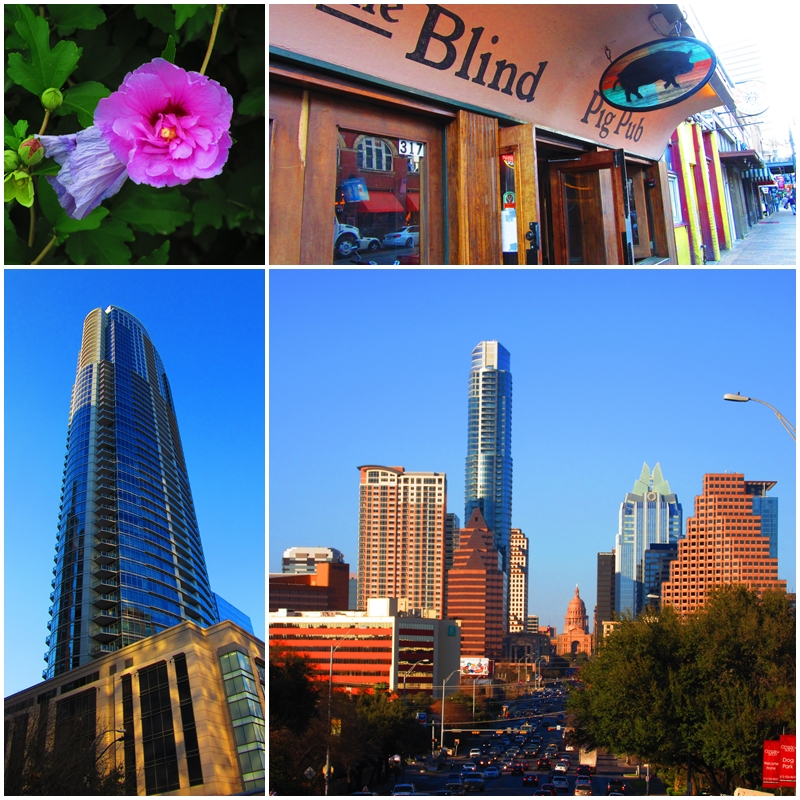 Austin's modern downtown district