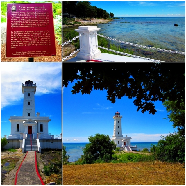 One of Fort Erie's historic and architectural landmarks: the Point Abino Lighthouse